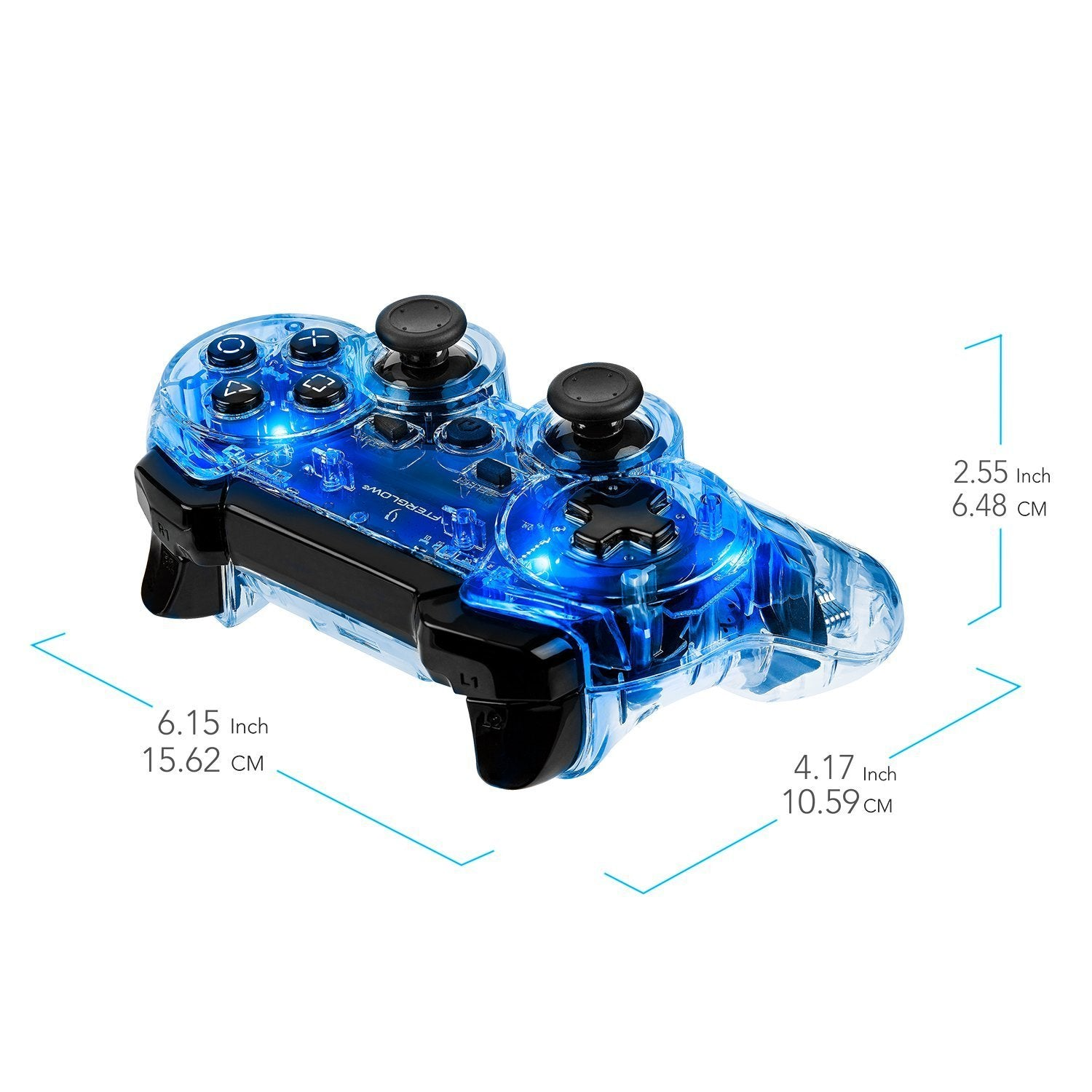 Afterglow Wireless Controller - Blue -PS3