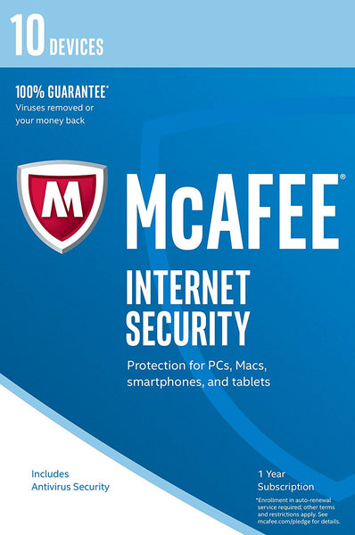 McAfee 2017 Internet Security - 10 Device (PC/Mac/Android)