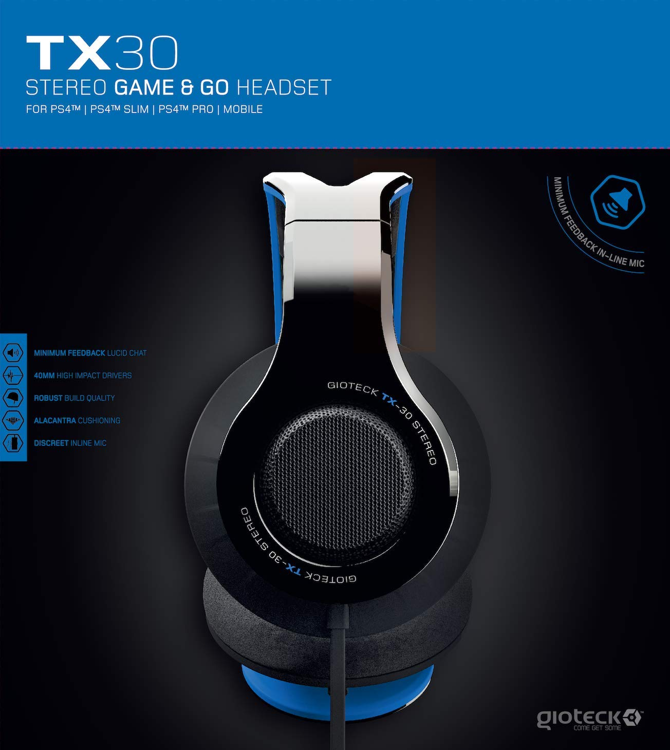 Gioteck TX-30 Stereo Gaming Headset - PlayStation 4