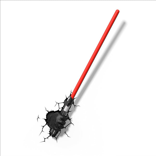 3D Light FX 50030 Star Wars Darth Vader Hand and Light Saber 3D Deco Light, Plastic, Black/Red - Lighting by 3D Light FX The Chelsea Gamer
