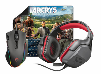 Far Cry Gaming Bundle Labon/Creon - Mouse / Surface / Headset / Far Cry 5 - Video Games by Trust The Chelsea Gamer