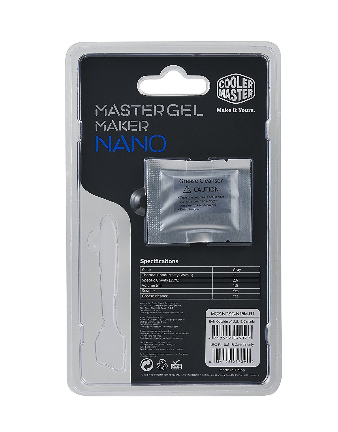 Cooler Master Thermal Grease for Cooling Fan