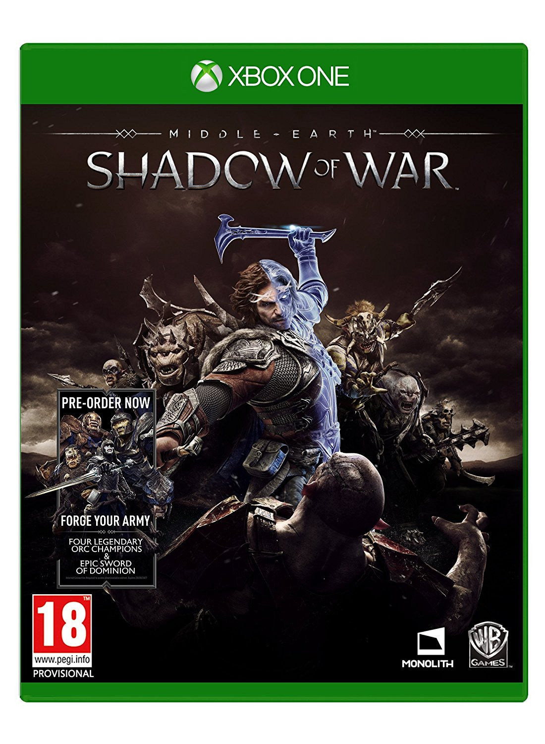 Middle-earth: Shadow of War Standard Edition, Xbox One - Video Games by Warner Bros. Interactive Entertainment The Chelsea Gamer