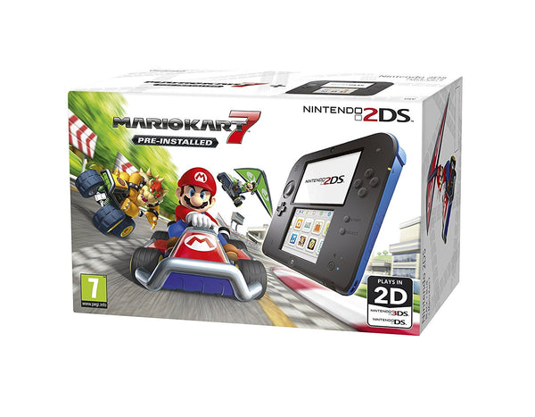 Nintendo Handheld Console 2DS - Black & Blue with pre-installed Mario Kart 7 - Console pack by Nintendo The Chelsea Gamer