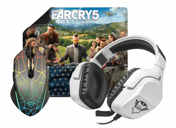 Far Cry Gaming Bundle Heron/Creon - Mouse / Surface / Headset / Far Cry 5 - Video Games by Trust The Chelsea Gamer