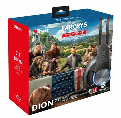 Far Cry Gaming Bundle Dion 7.1 Vibration Headset  / Far Cry 5 - Video Games by Trust The Chelsea Gamer