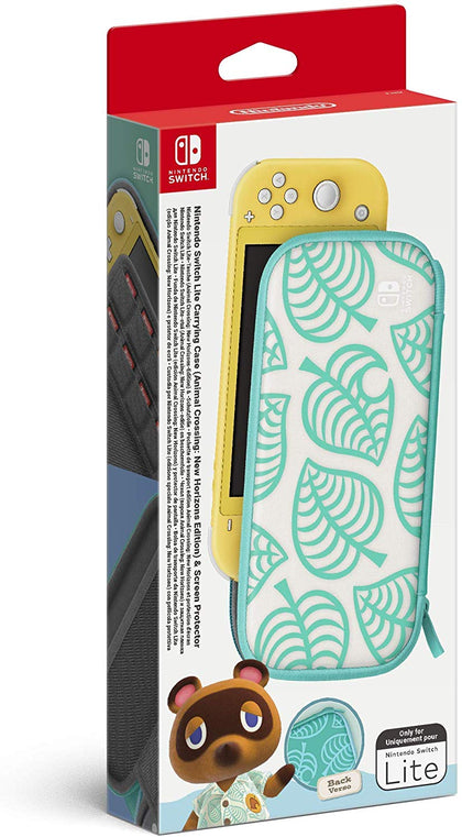 Switch Lite Animal Crossing: New Horizons Carrying Case & Screen Protector