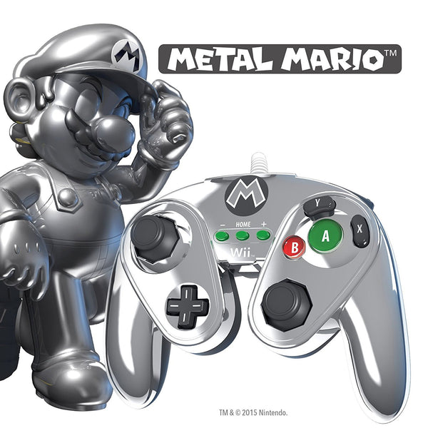 Metal Mario 30th Anniversary controller for Wii U - Console Accessories by PDP The Chelsea Gamer
