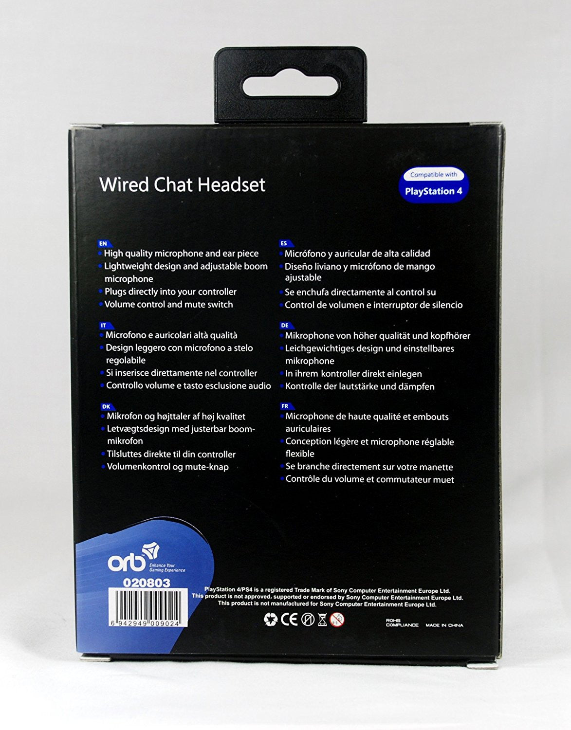 ORB Wired Chat Headset (PS4)
