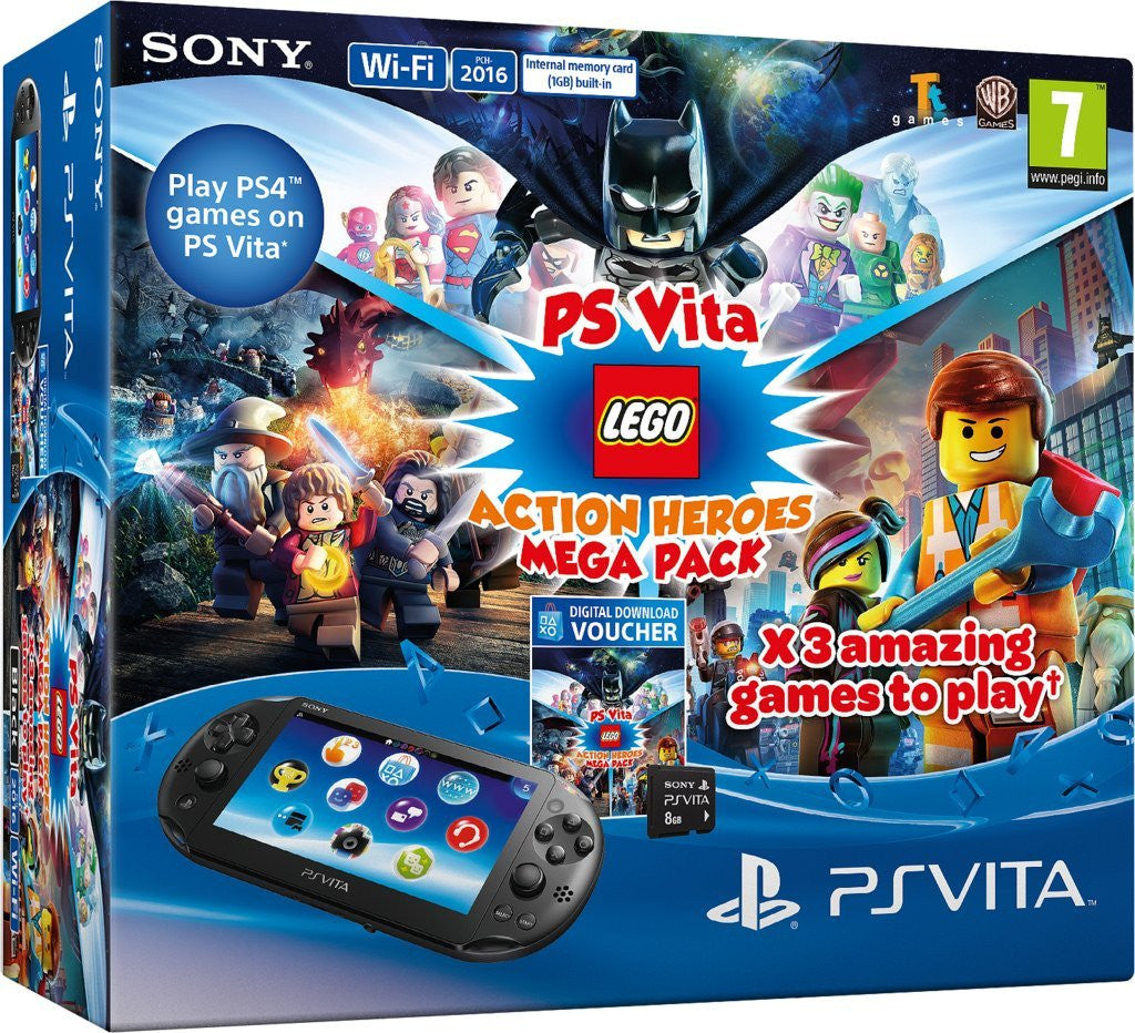 Mega Pack Lego Heroes voucher plus 8GB Memory Card (PlayStation Vita) - Video Games by Sony The Chelsea Gamer