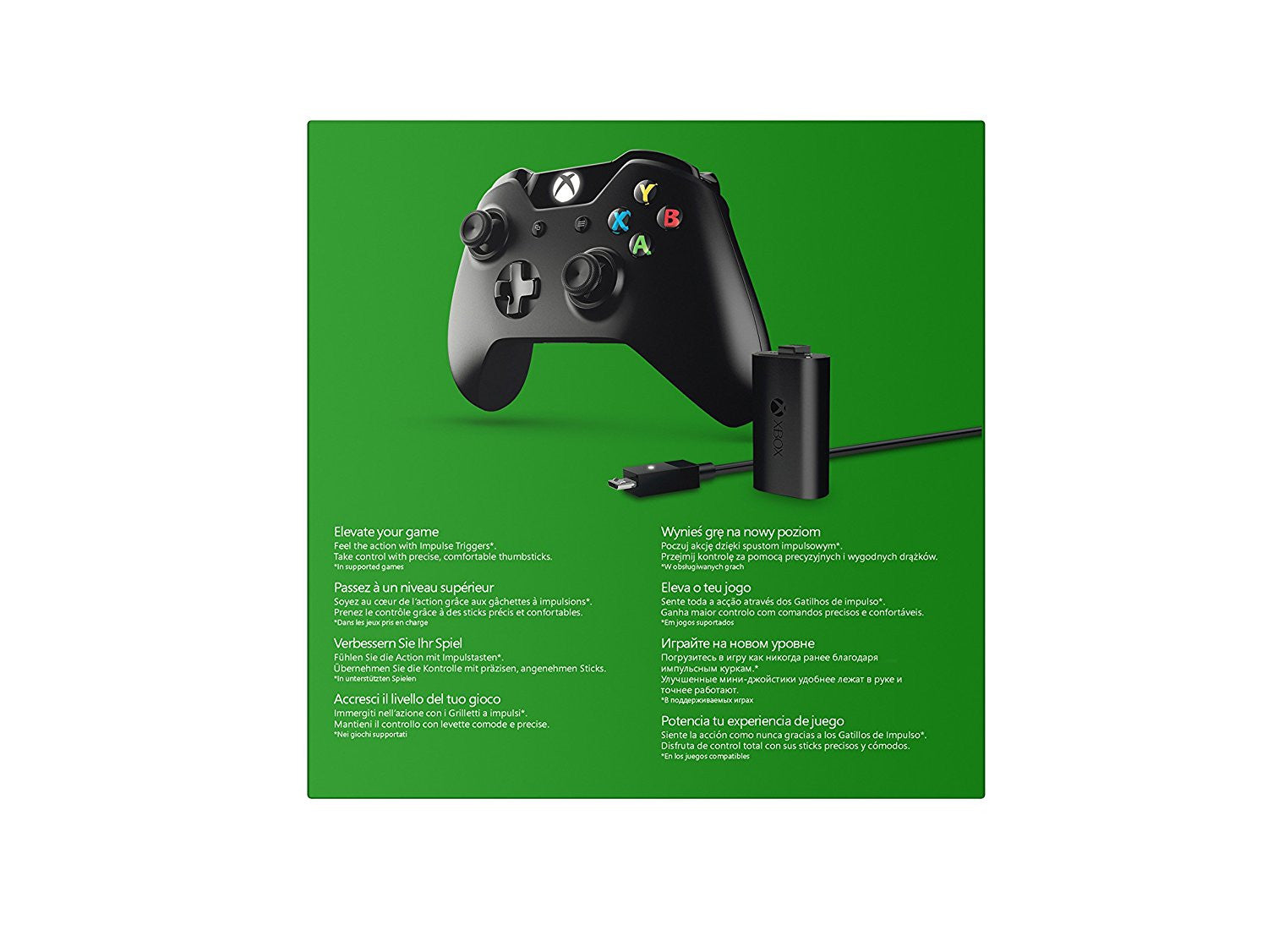 Official Xbox One Wireless Controller with Play and Charge Kit