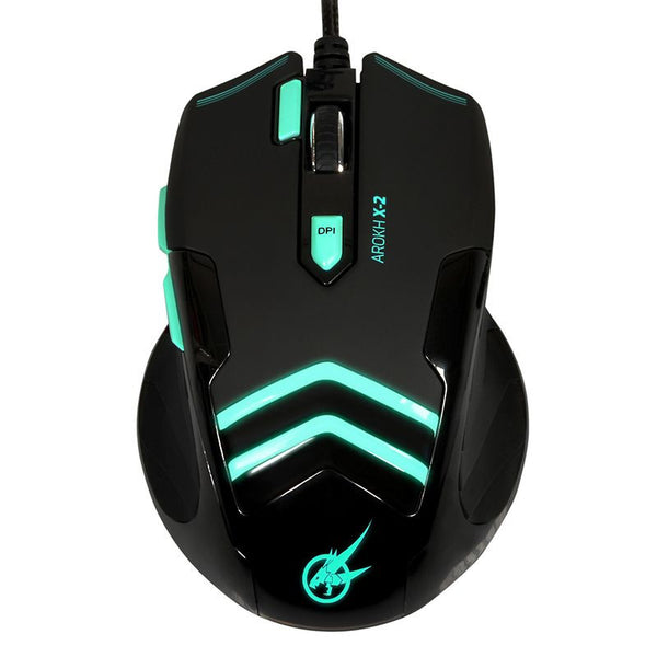 Port Designs Arokh Gaming Mouse  X-2 - Green LED - Mice by Port Design The Chelsea Gamer