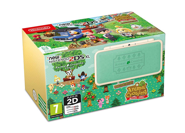 New Nintendo 2DS XL + Animal Crossing New Leaf: Welcome Amiibo