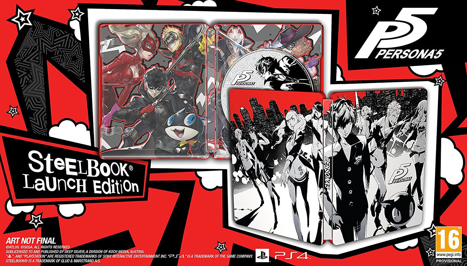 Persona 5 - Launch Steelbook Edition - PS4 - Video Games by Deep Silver UK The Chelsea Gamer