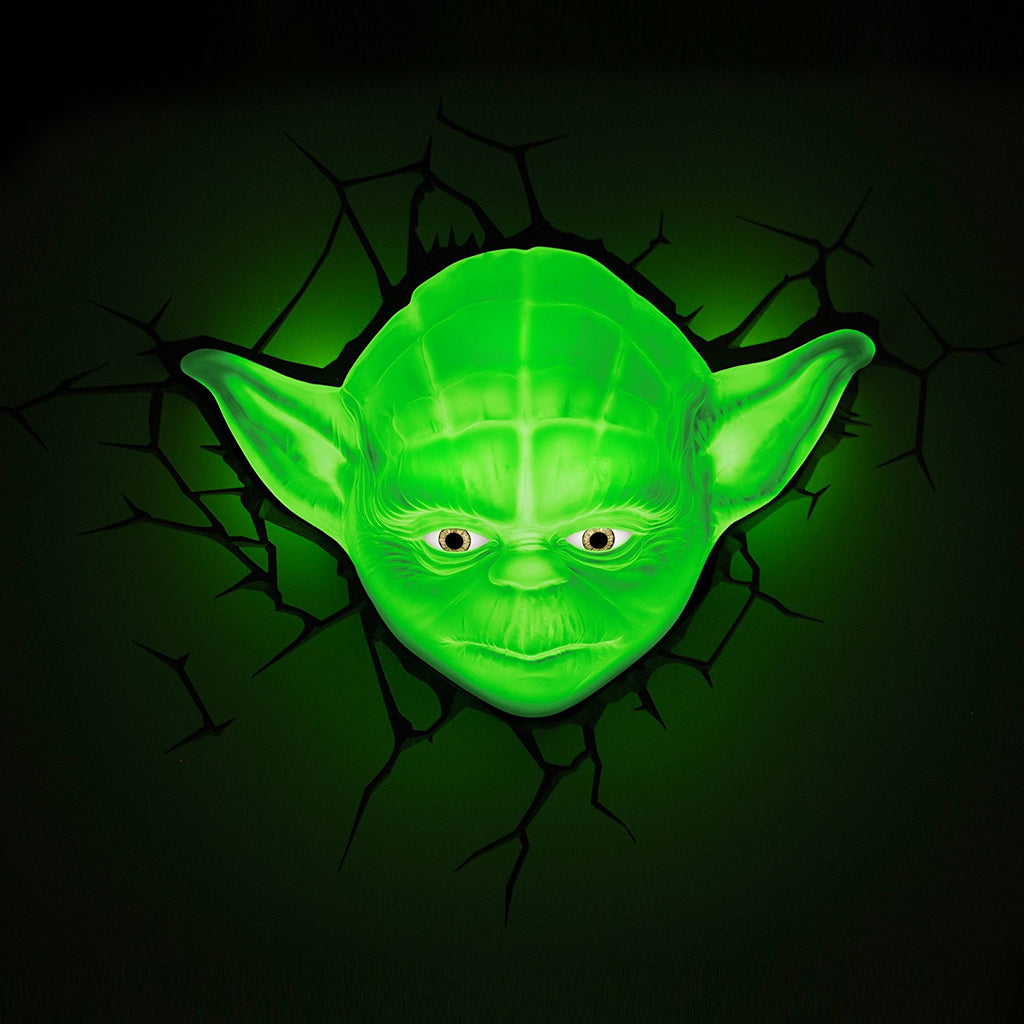 3D Light FX 50025 Star Wars Yoda 3D Deco Light, Plastic, Green - Lighting by 3D Light FX The Chelsea Gamer