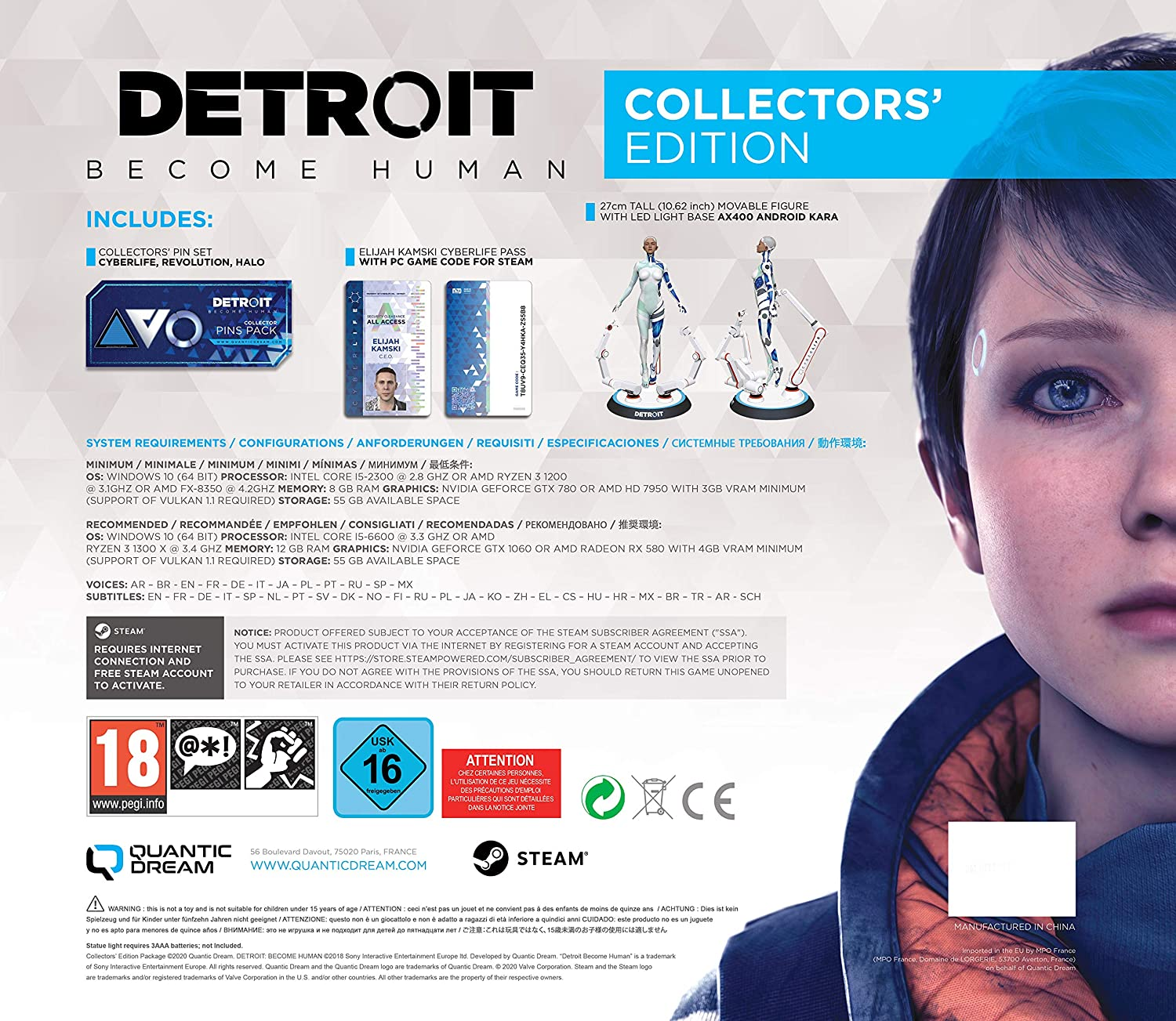 Detroit Become Human Collector's Edition - PC