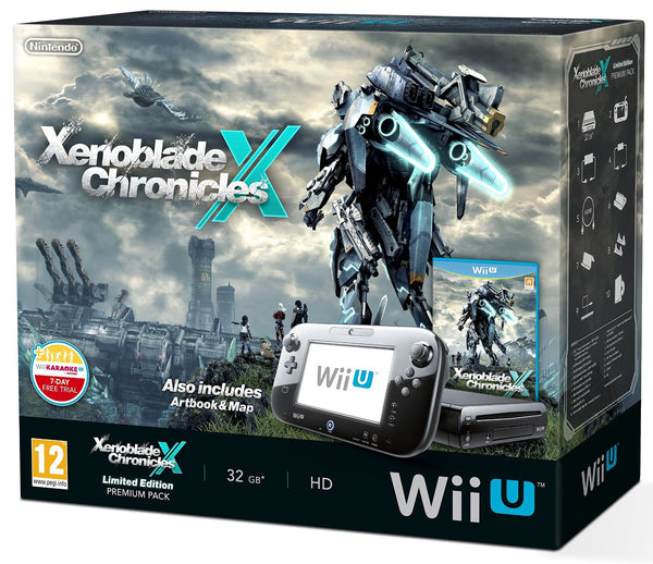 Nintendo Wii U 32GB Xenoblade Premium Pack - Black (Includes Exclusive Artbook and World Map) - Console pack by Nintendo The Chelsea Gamer