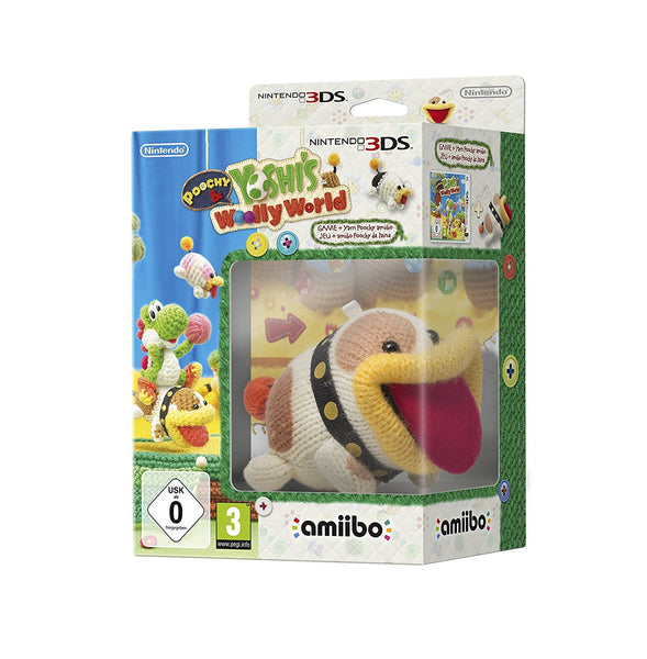 POOCHY & YOSHI'S WOOLLY WORLD with Amibo- 3DS - Video Games by Nintendo The Chelsea Gamer