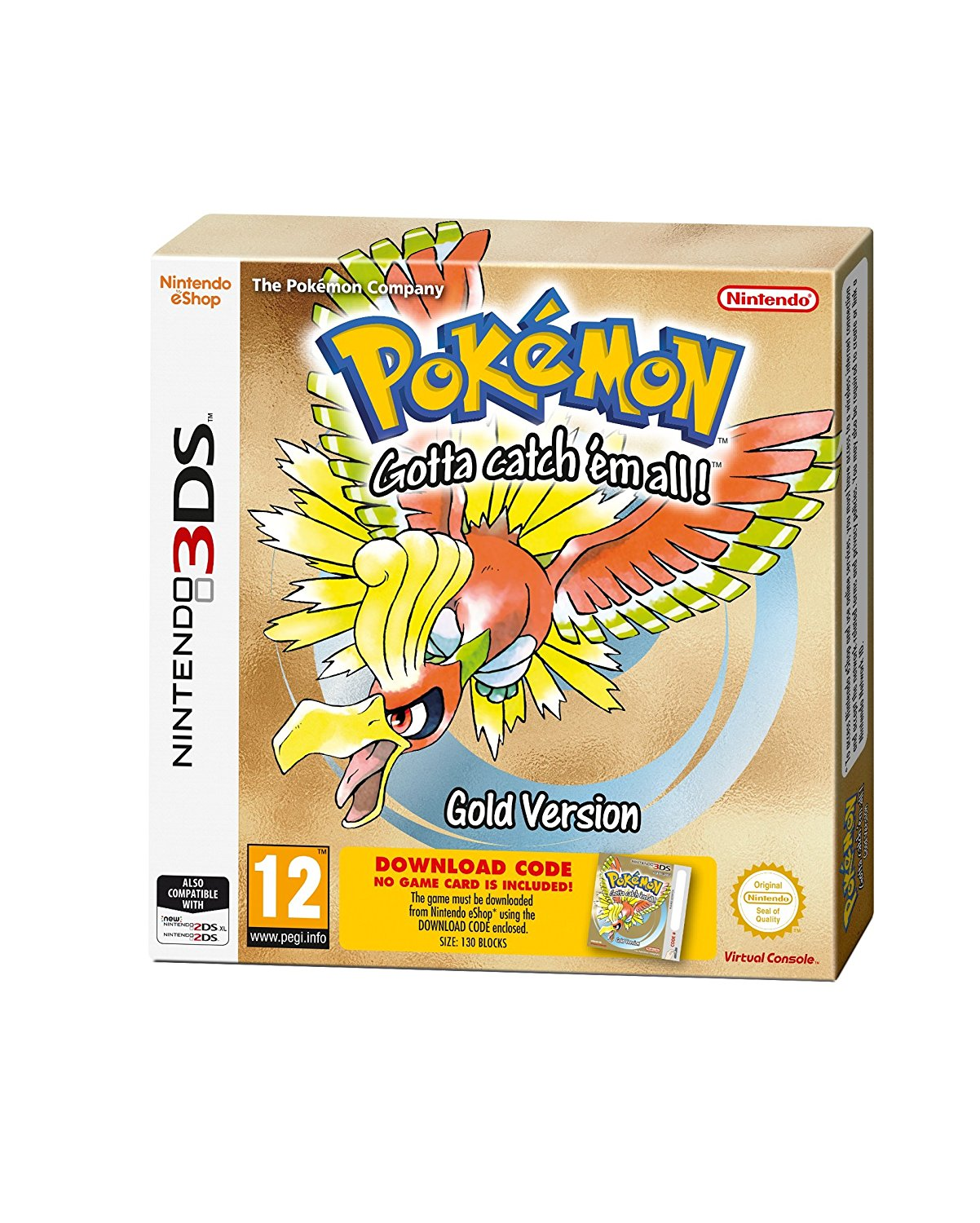 Pokemon Gold (code in box) - 3DS