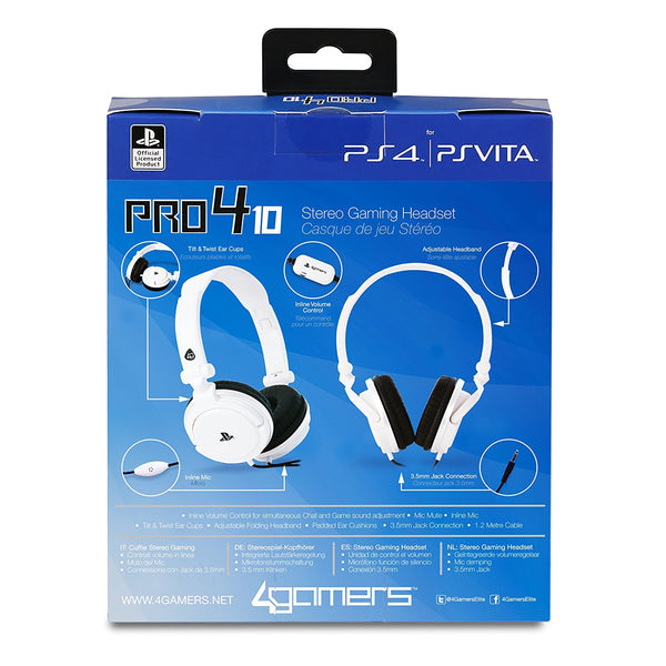 4Gamers Officially Licensed Stereo Gaming Headset - PRO4-10 - Console Accessories by A4T The Chelsea Gamer