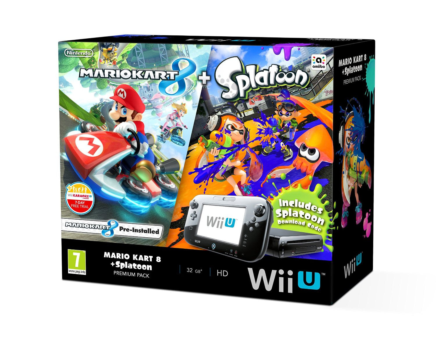 Nintendo Wii U With Mario Kart 8 & Splatoon