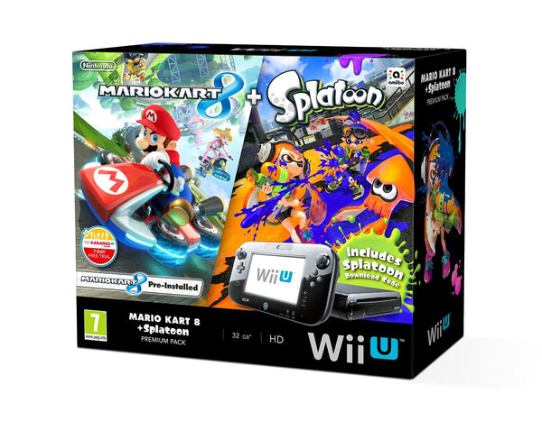 Nintendo Wii U With Mario Kart 8 & Splatoon - Console pack by Nintendo The Chelsea Gamer