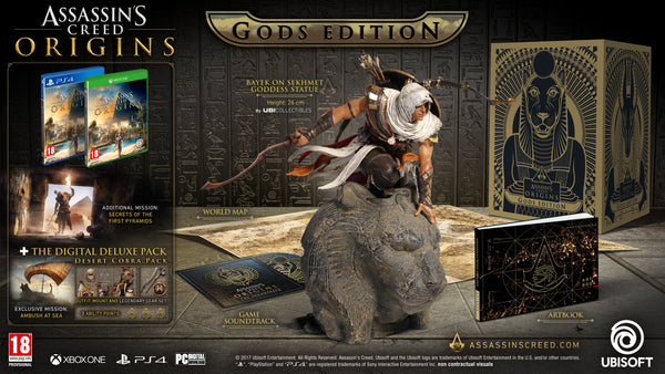 Assassins Creed Origins Gods Collector Edition PS4 - Video Games by UBI Soft The Chelsea Gamer