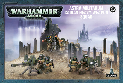 Cadian Heavy Weapon Squad - Model Play by Games Workshop The Chelsea Gamer