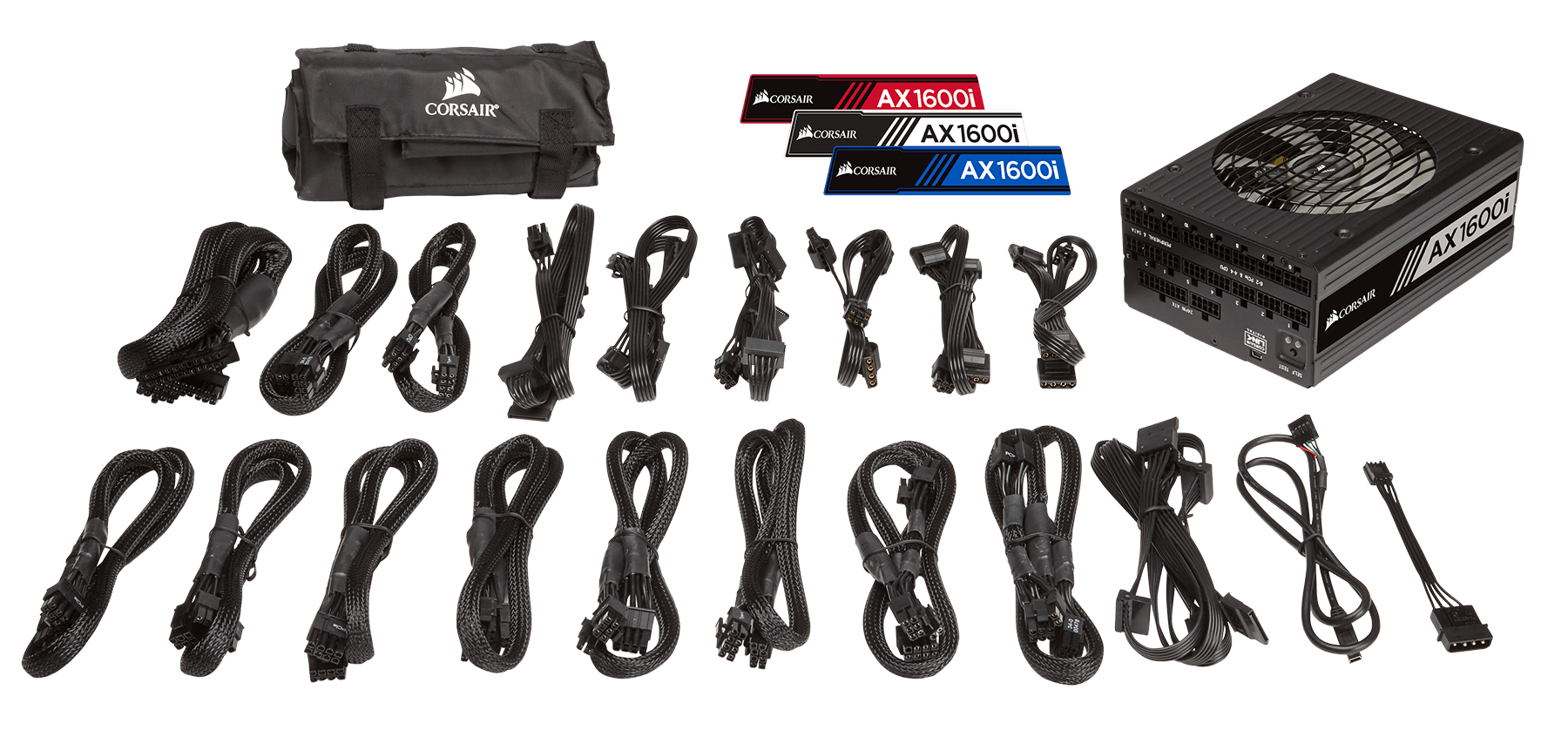Corsair AX1600i Digital ATX Power Supply — 1600 Watt Fully-Modular PSU