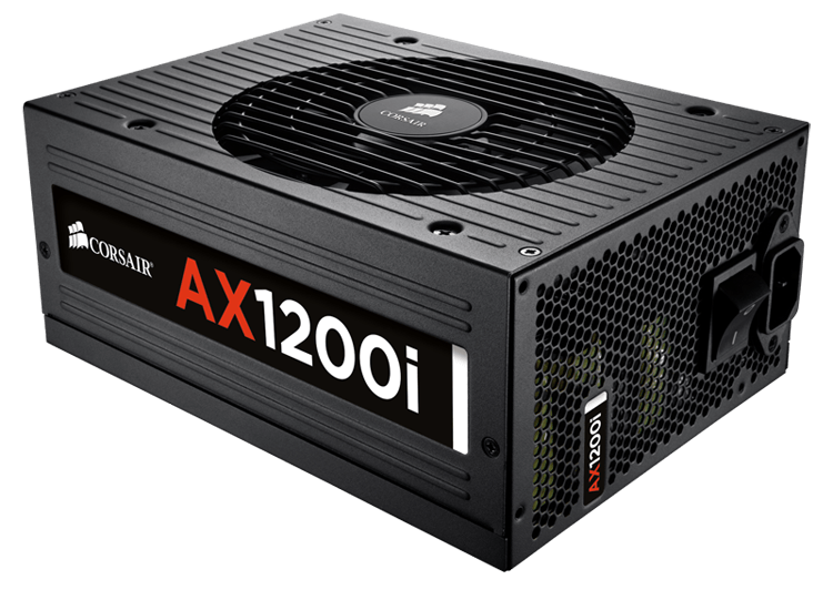 Corsair AX1200i Digital ATX Power Supply — 1200 Watt 80 PLUS® Platinum Certified Fully-Modular PSU