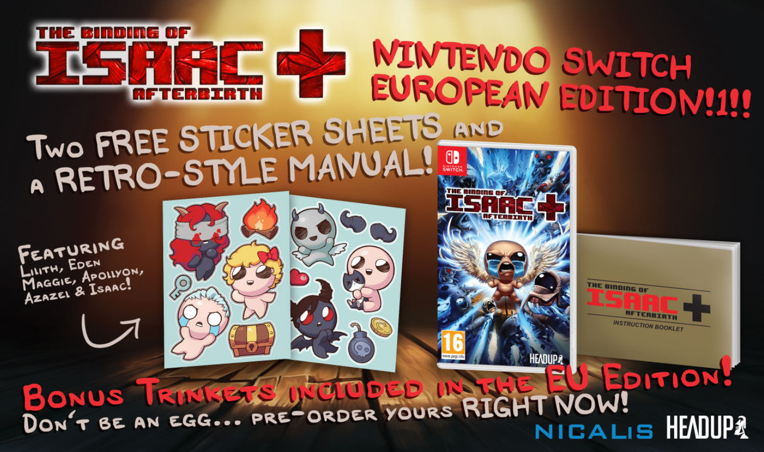 The Binding of Isaac: Afterbirth+for Nintendo Switch