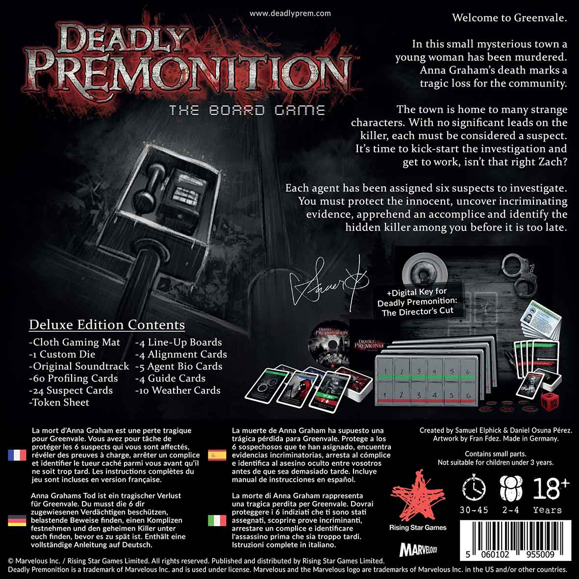 Deadly Premonition The Board Game: Deluxe Edition (PC)