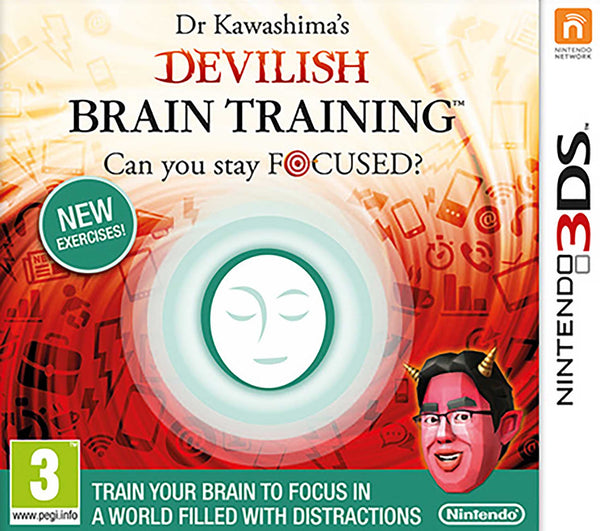 Dr Kawashima's Devilish Brain Training: Can You Stay Focussed? - 3DS - Video Games by Nintendo The Chelsea Gamer