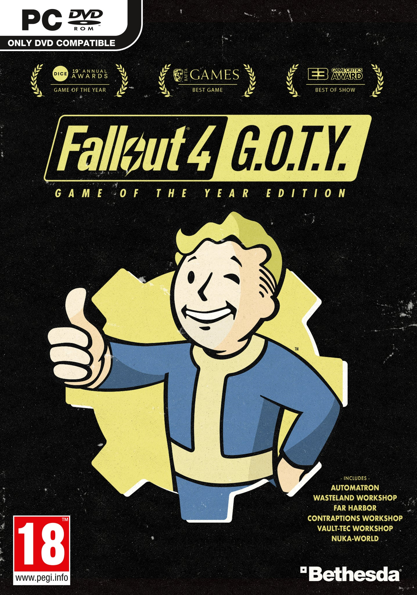 Fallout 4 Game of the Year Edition - PC - Video Games by Bethesda The Chelsea Gamer