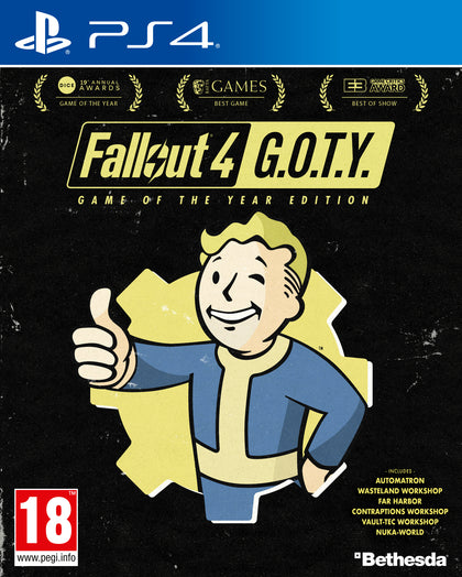 Fallout 4 Game of the Year Edition - PS4 - Video Games by Bethesda The Chelsea Gamer