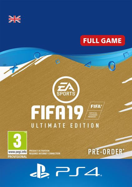 FIFA 19 Ultimate Edition - PlayStation 4 - Digital Purchase