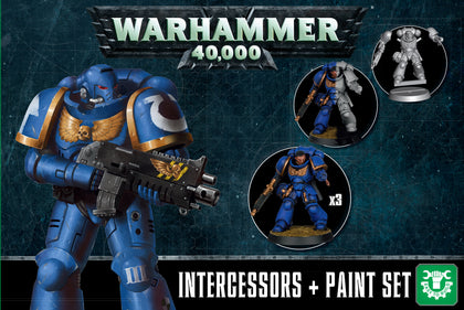 Warhammer 40,000: Intercessors & Paint Set