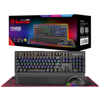 Marvo - Scorpion Mechanical Keyboard, Mouse and Gaming Surface - CM420-UK Gaming Kit
