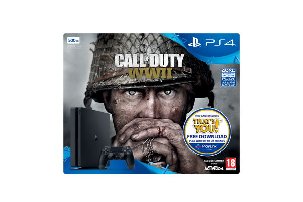 Call of Duty®: WWII 500GB PS4™ Bundle - Console pack by Sony The Chelsea Gamer