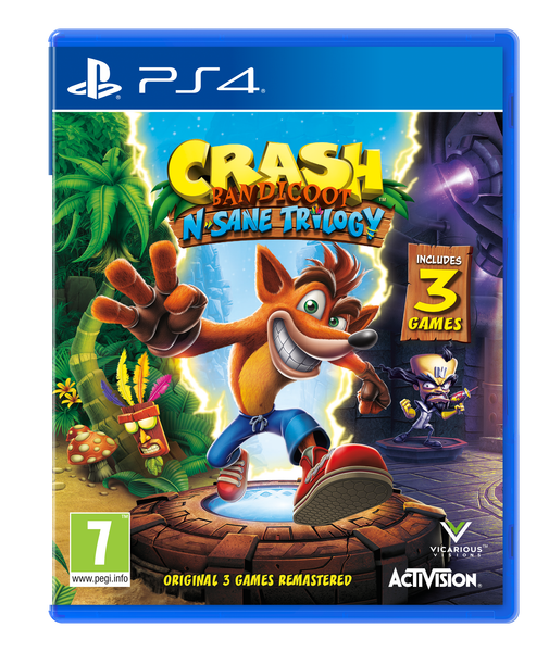 Crash Bandicoot® N. Sane Trilogy PS4 - Video Games by ACTIVISION The Chelsea Gamer