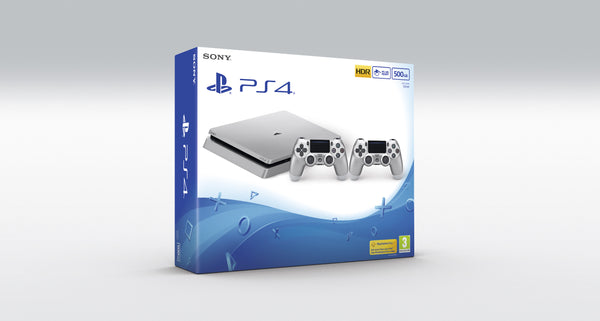 limited edition Silver PS4™ - 500GB - Console pack by Sony The Chelsea Gamer