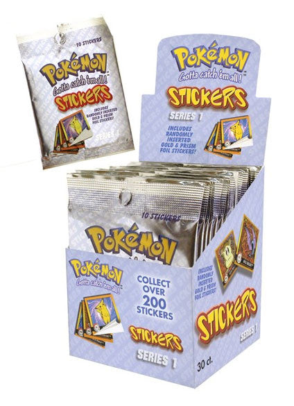 Pokemon Series 1 - Stickers - 10 per pack