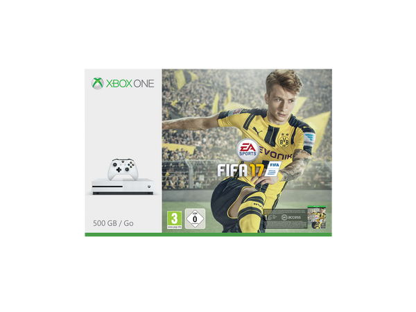 Microsoft Xbox One S - 500GB with FIFA17 - Console pack by Microsoft The Chelsea Gamer