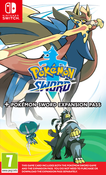 Pokémon Sword + Expansion Pass (The Isle or Armor + The Crown Tundra)