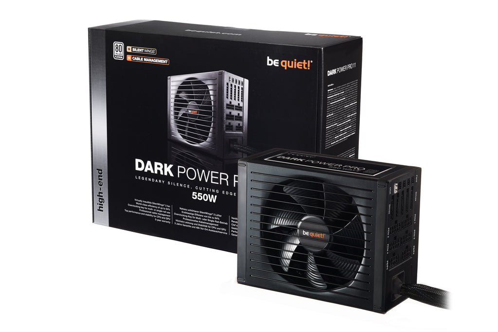 Be Quiet! Dark Power Pro 11 - 550W - Core Components by Be Quiet The Chelsea Gamer