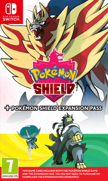 Pokémon Shield + Expansion Pass (The Isle or Armor + The Crown Tundra)