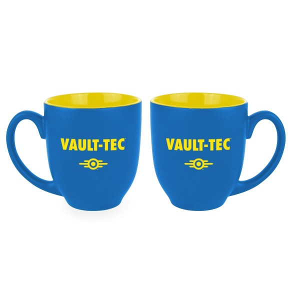 Fallout Oversized Mug Vault-Tec Blue / Yellow - merchandise by Gaya The Chelsea Gamer