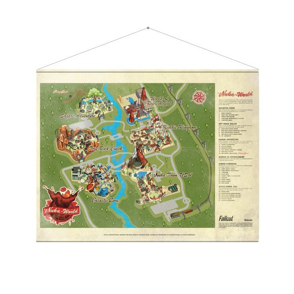 Fallout Wallscroll Nuka World Map - merchandise by Gaya The Chelsea Gamer