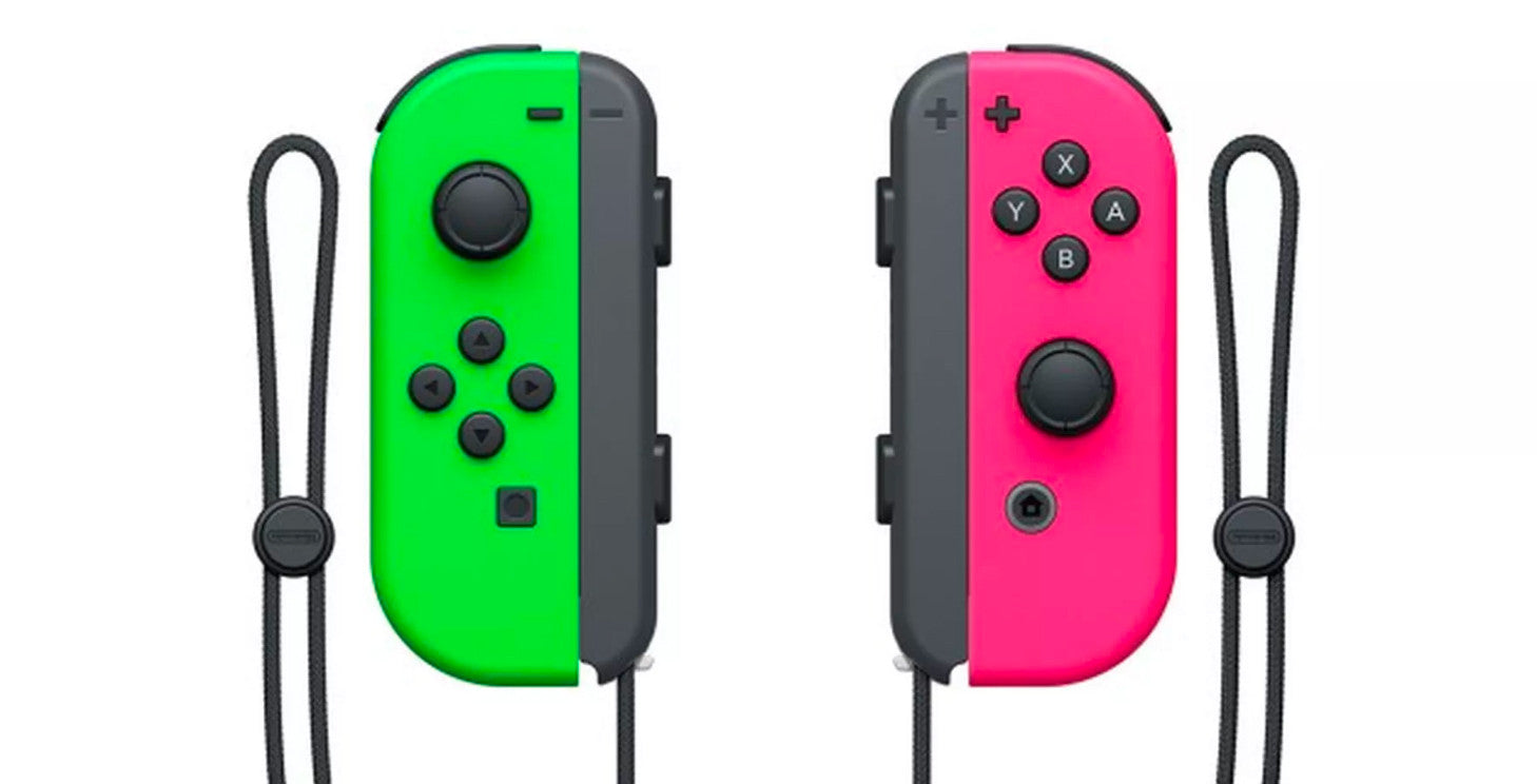 Joy-Con Pair Neon Green and Pink