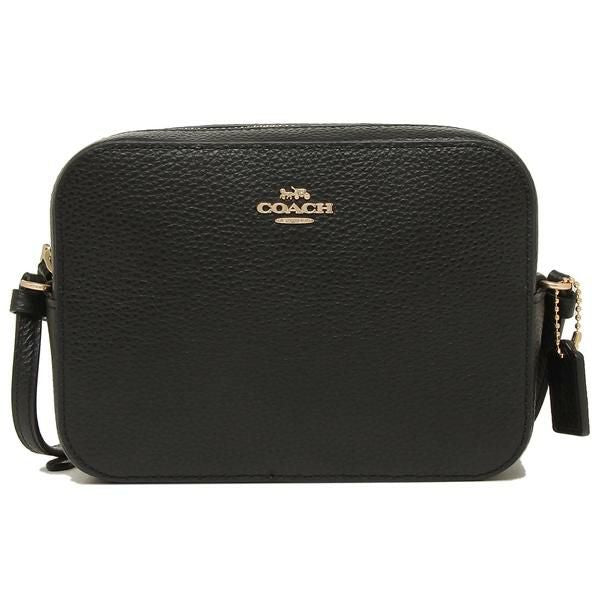 Coach Mini Camera Bag In Pebble Leather Black 87734